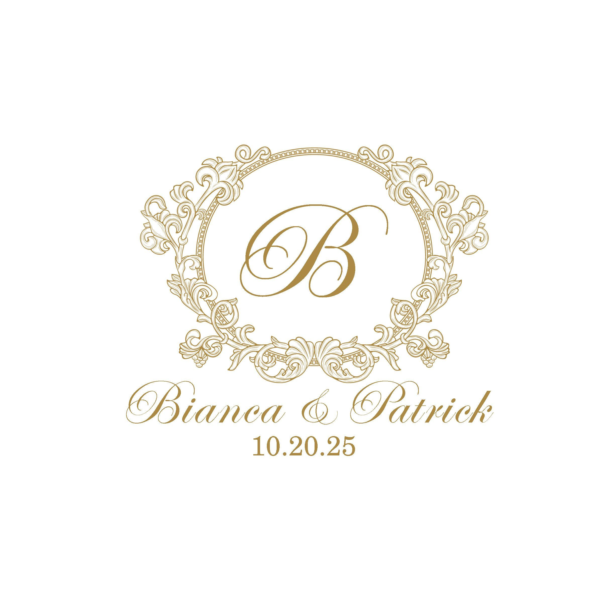 Wedding Logo 75 Digital Wedding Monogram Custom Wedding