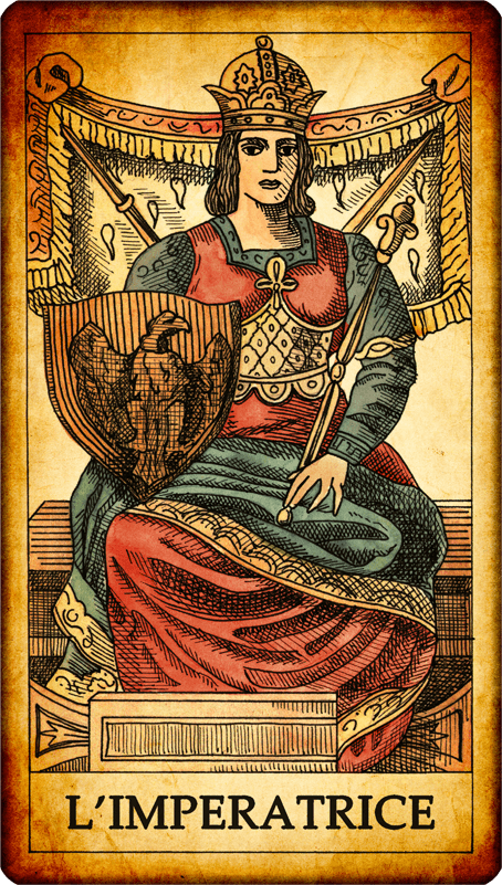 The Empress. N. 3. A Young Woman With Royal Clothes And