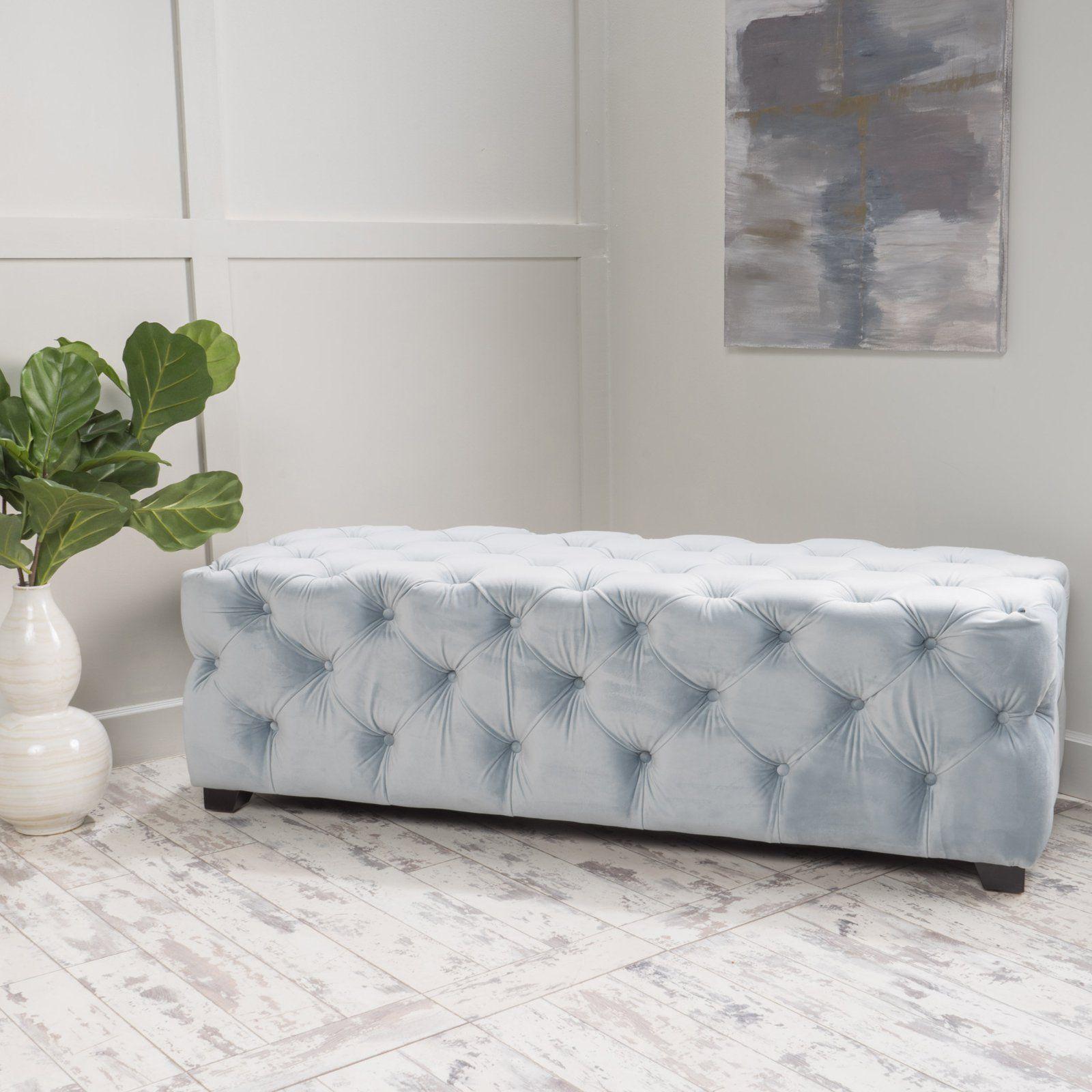 Pleasant Best Selling Home Barrett New Velvet Indoor Bench 298422 Andrewgaddart Wooden Chair Designs For Living Room Andrewgaddartcom