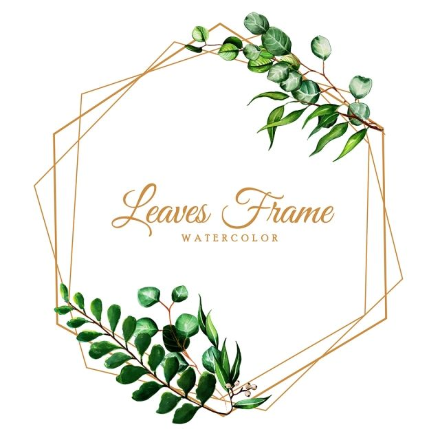Beautiful Watercolor Leaves Frame Watercolor Clipart Color Colorful Png And Vector With Transparent Background For Free Download Svadebnye Fotoramki Cvetochnye Fony Dizajn Karty