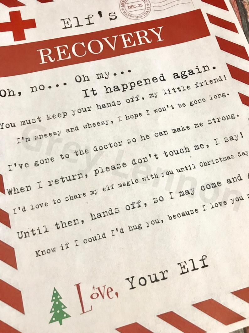 Elf Touched SECOND Time Christmas Elf Recovery Letter Lost