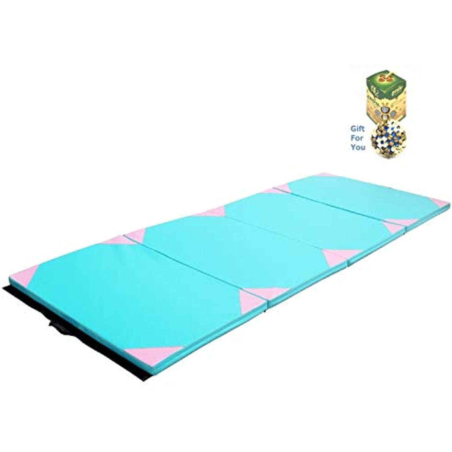 COSTWAY 4'x10'x2 Thick Gym Fitness Exercise Gymnastics Mat