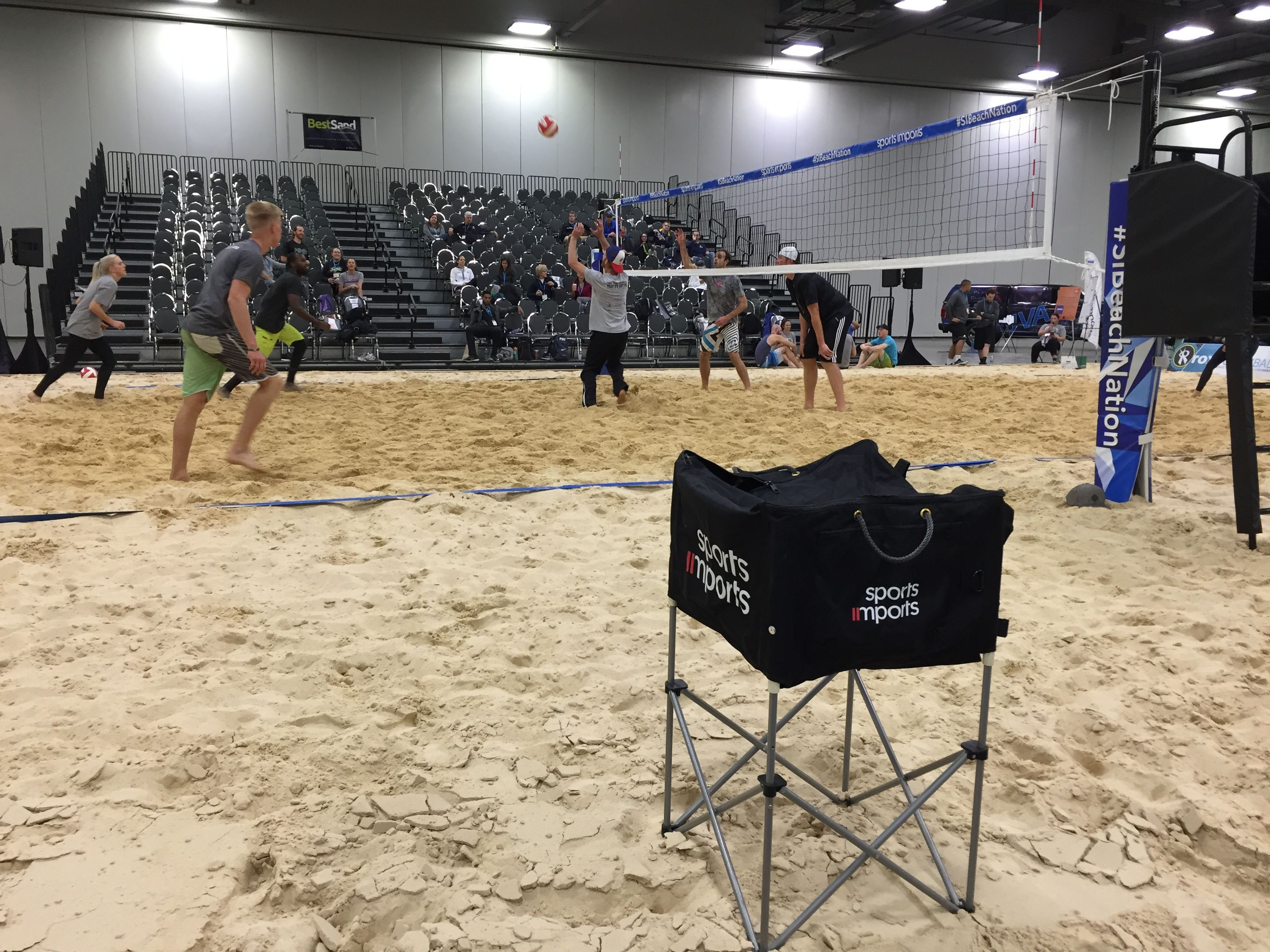 Beach Volleyball Equipment At The Avca Convention Volleyball Net Outdoor Volleyball Net Volleyball Equipment