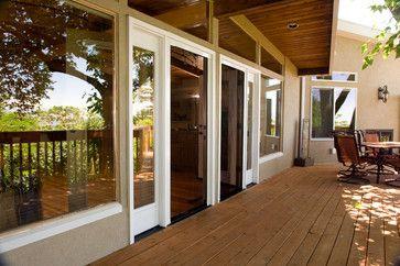retractable screens aid universal design project modern patio