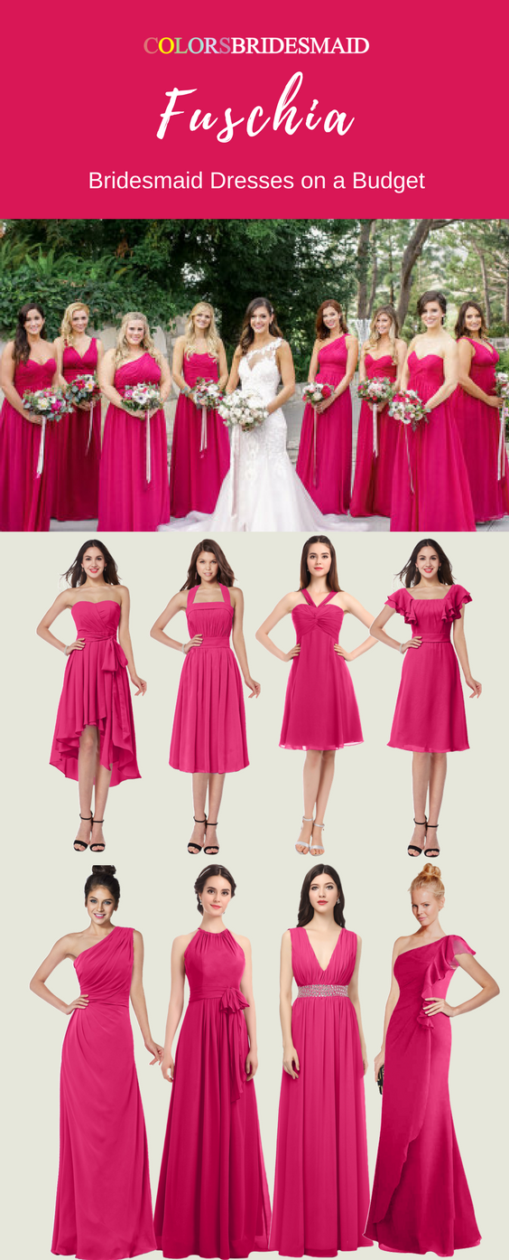 In Want Bridesmaid Dresses In Fuschia With Stunning Styles Fuschia Bridesmaid Dresses Bridesmaid Dresses Turquoise Bridesmaid Dresses