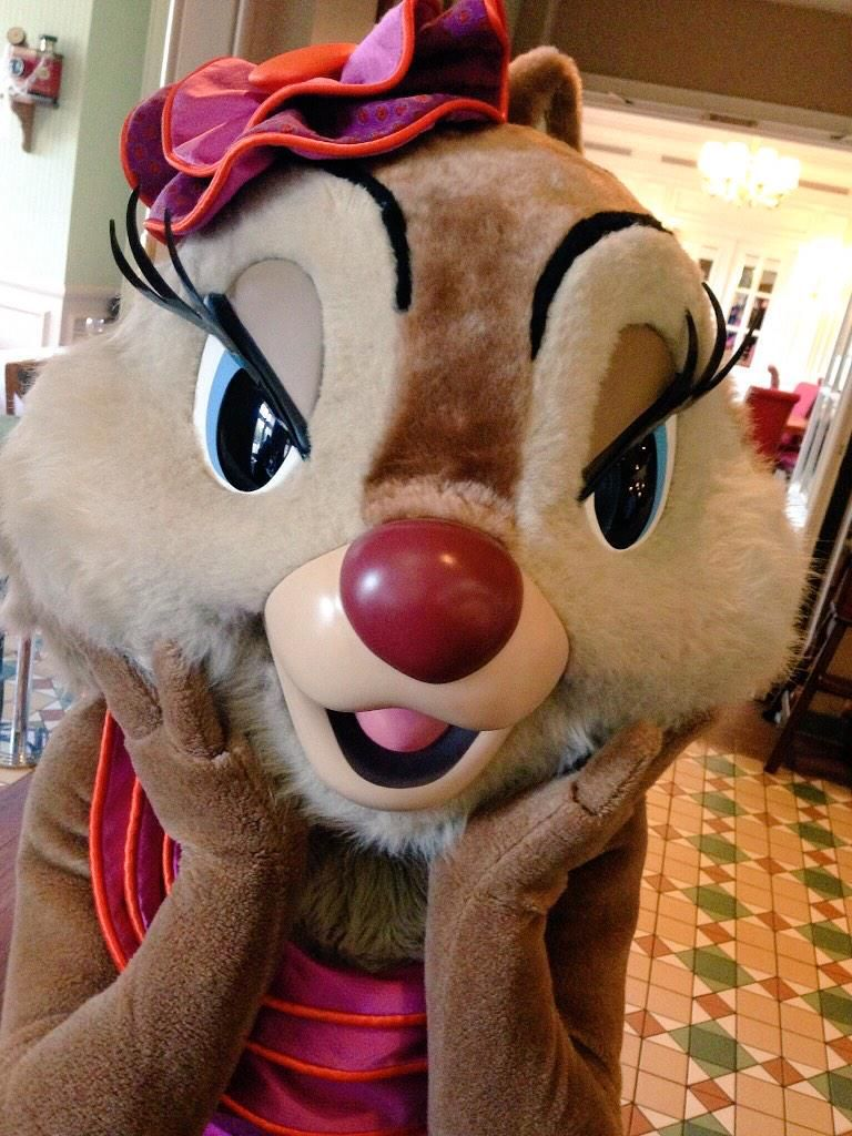 She's the cutest chipmunk you've ever seen! Who doesn't love Clarice? #Disney #DisneylandParis #Disneyland