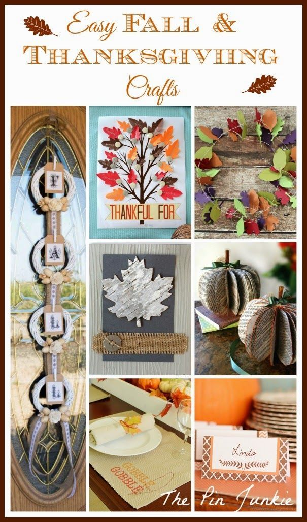 Easy Fall Thanksgiving Crafts Thanksgiving Craft And Craft Corner