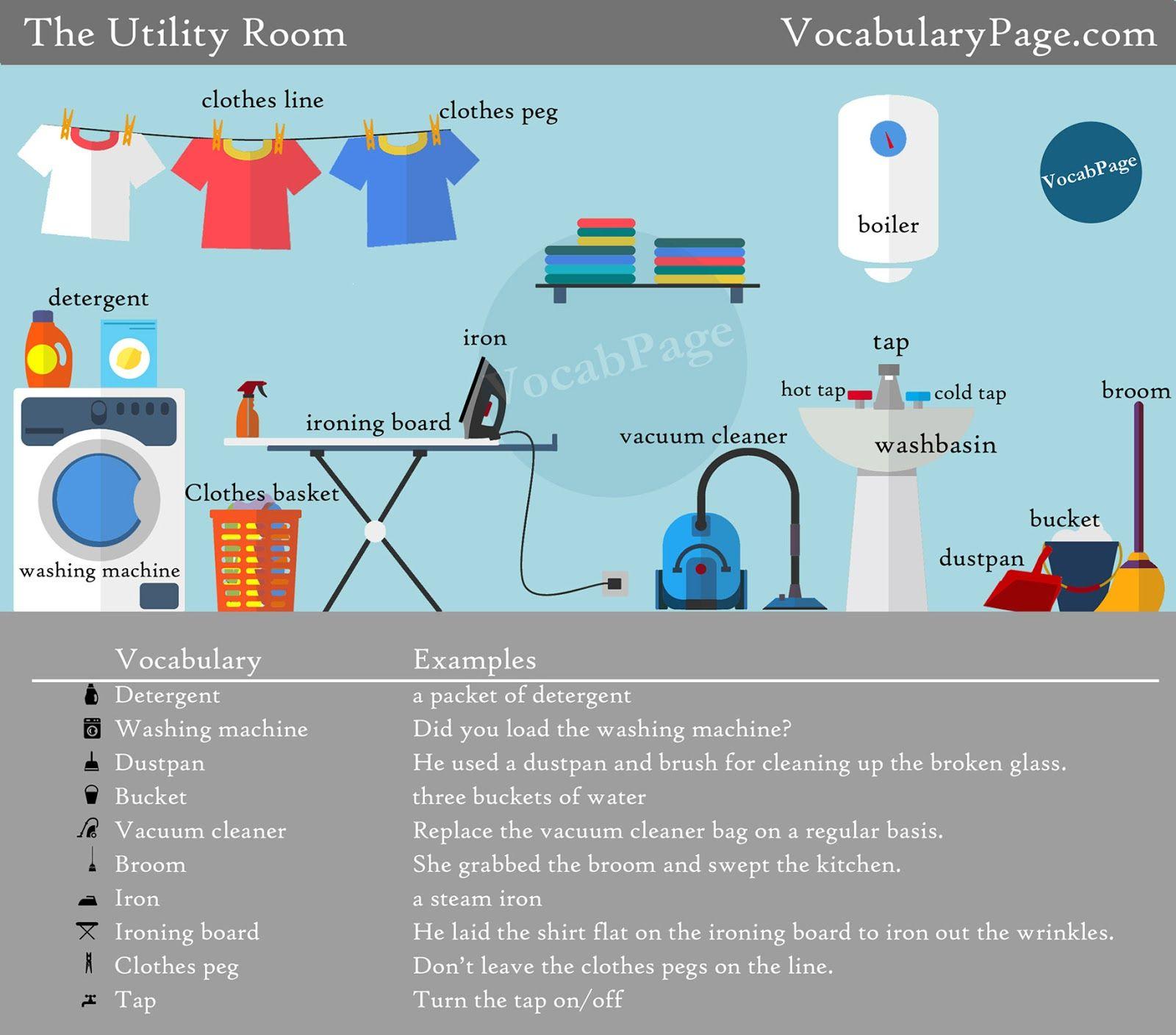 The Utility Room Vocabulary
