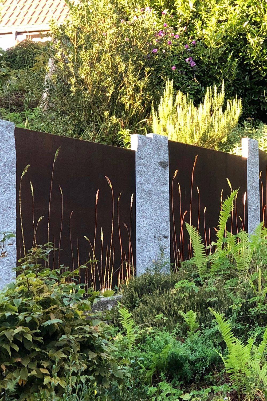 Sichtschutzwand Mit Grasmotiv Muro Sichtschutz Sichtschutzwand
