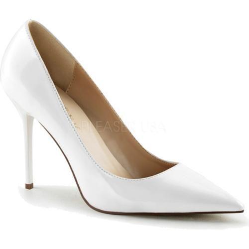 2514ce6f0a8 Women's Pleaser Classique 20 Pump White Patent (US Women's 10 M ...