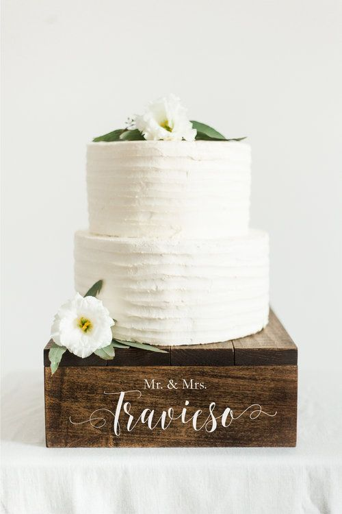 Rustic Wooden Cake Stand | Cupcake Stand | Wedding Cake Stand | SS-7 — Sweet Carolina Collective