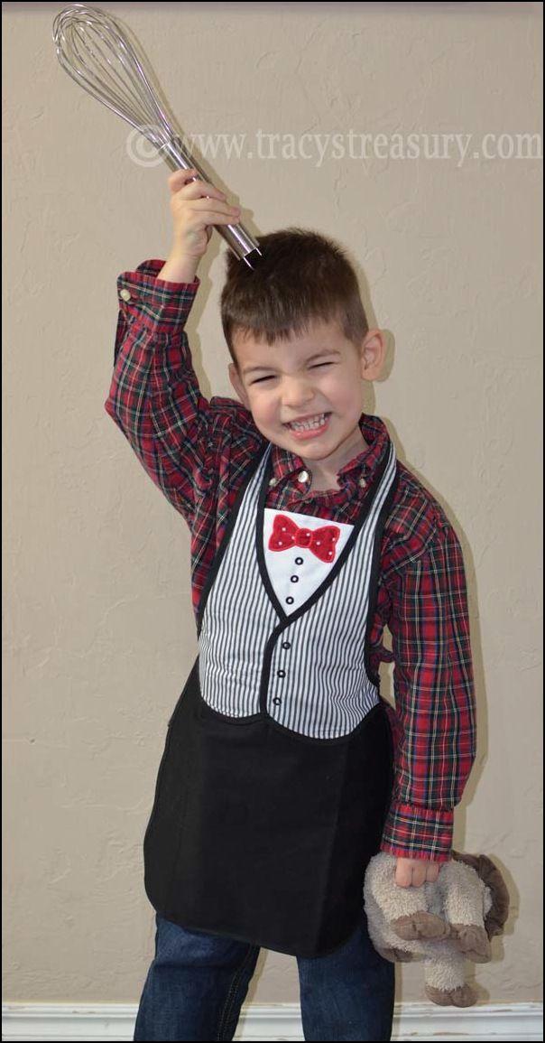 Tuxedo Apron for Little Chefs!