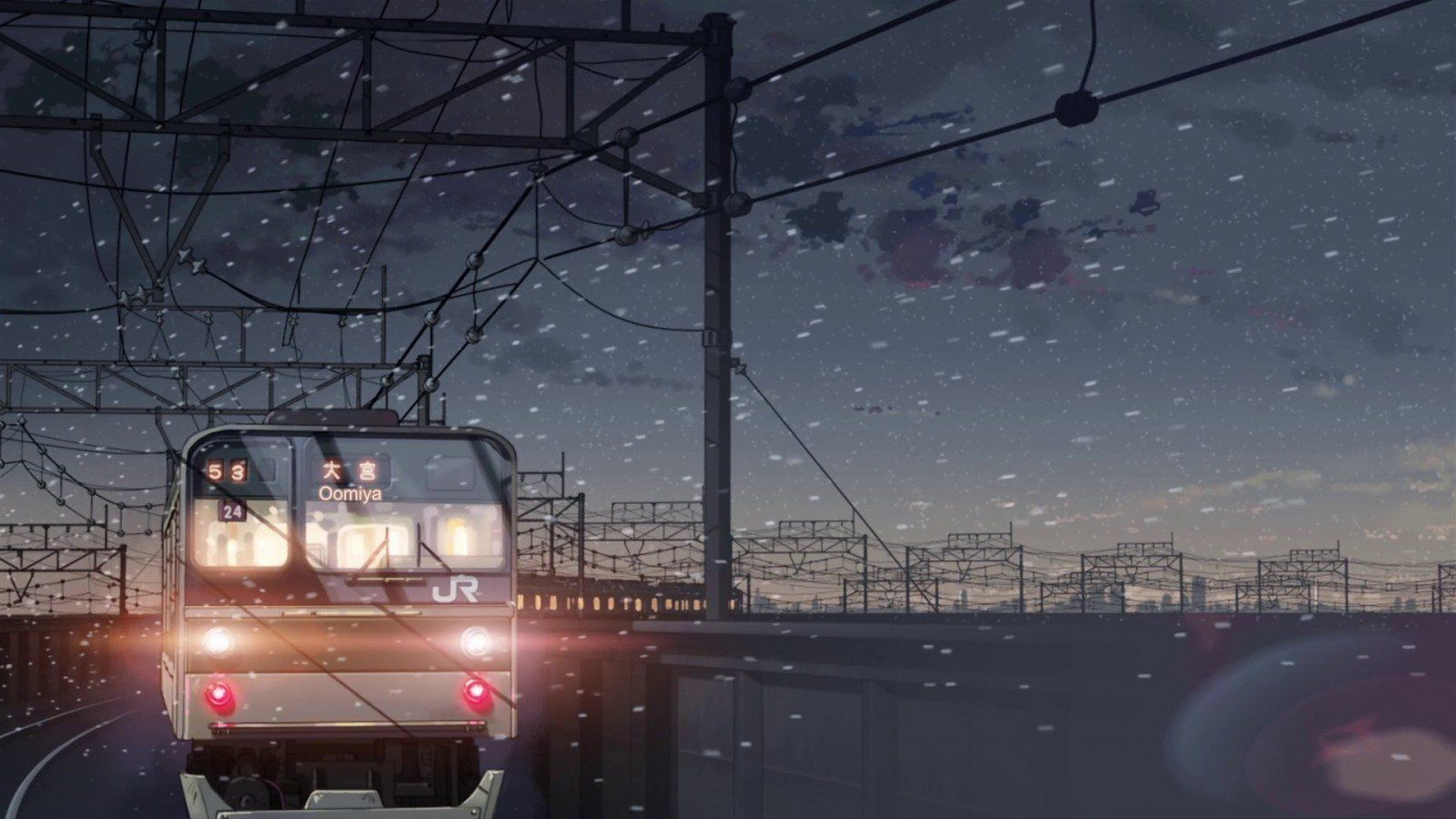 Irene Db On Twitter Anime Background Anime Scenery Episode Backgrounds Hd wallpaper night snow city train