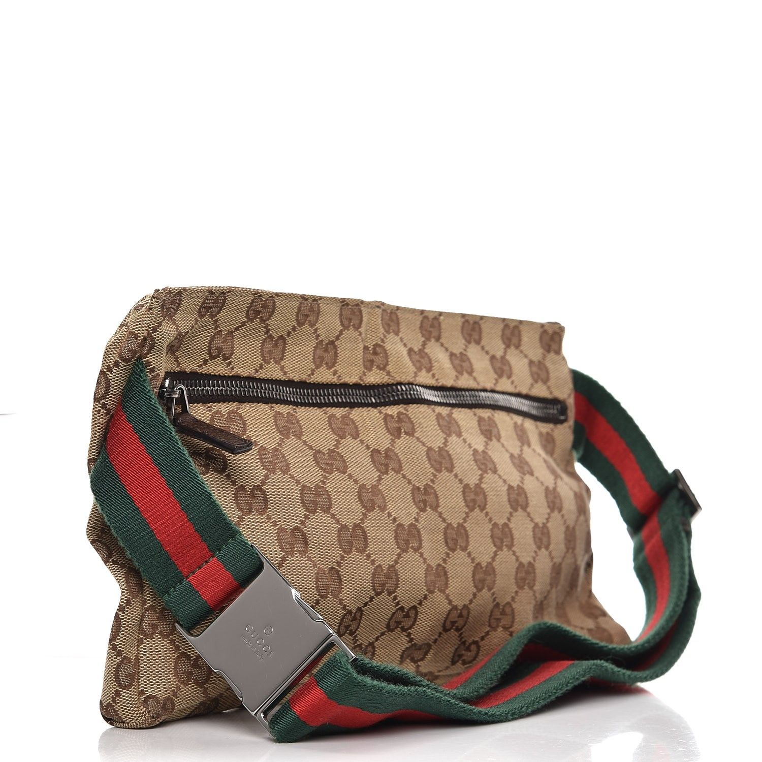 bda727f0d54 This is an authentic GUCCI Monogram Web Belt Bag in Dark Brown. This chic  belt