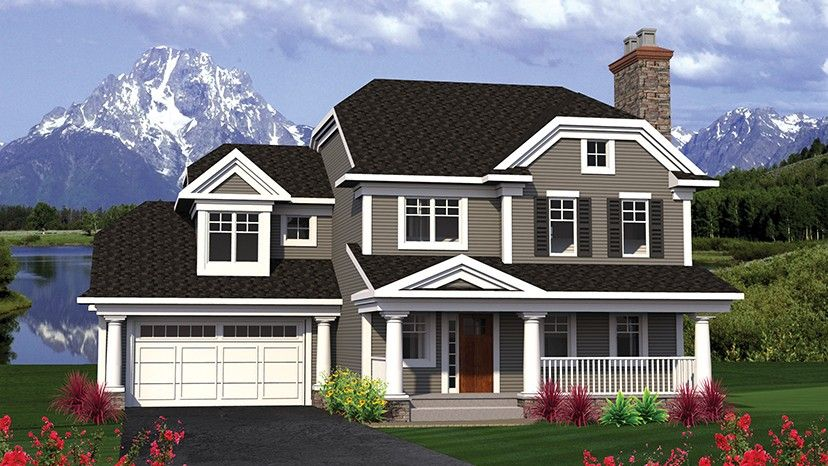 Home Plan Homepw77407 2439 Square Foot 4 Bedroom 3 Bathroom Traditional With 2
