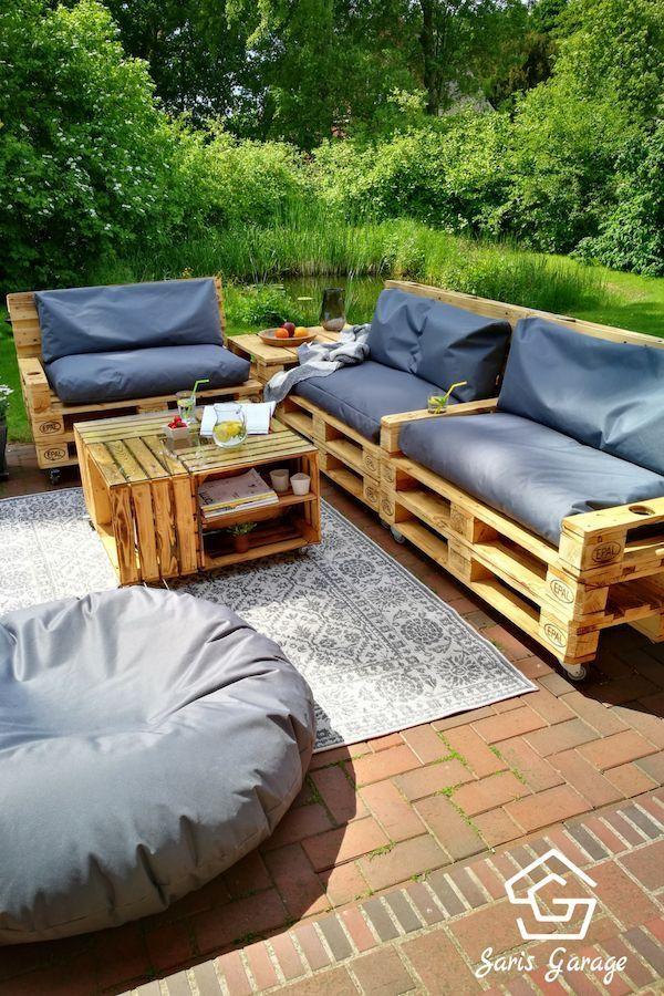 Garden furniture made of pallets | Meuble jardin palette ...