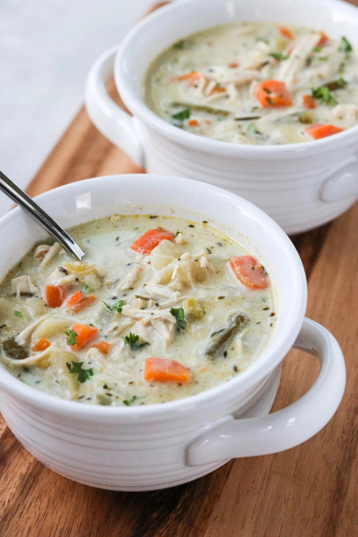 Healthy Chicken Pot Pie Soup (Whole30, Paleo) Recipe
