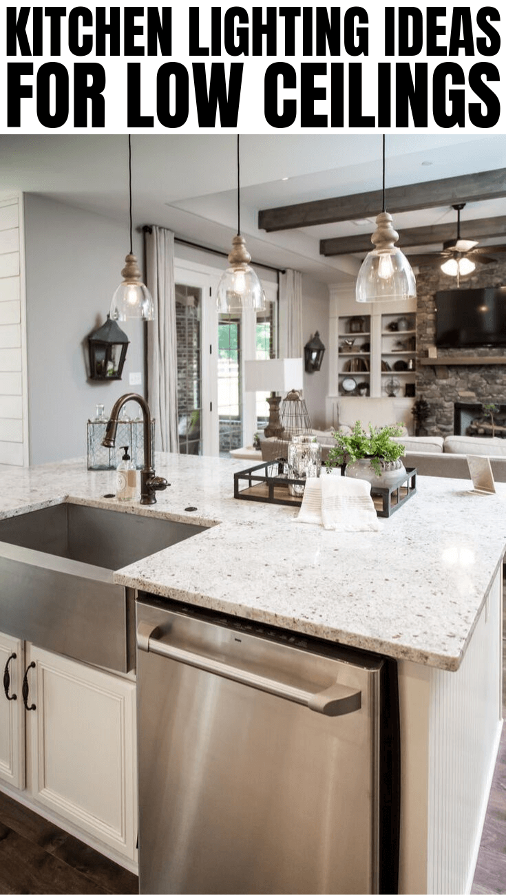 Kitchen Lighting Ideas For Low Ceilings Small Kitchen Lighting Kitchen Island With Sink Open Concept Kitchen