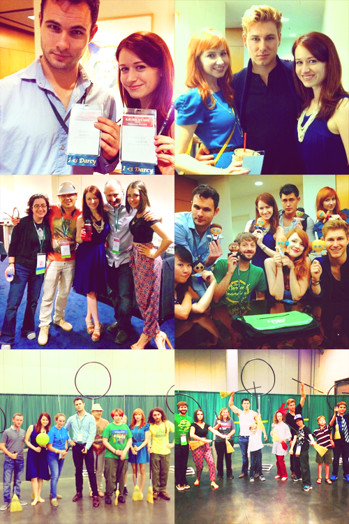 The cast of The Lizzie Bennet Diaries at LeakyCon - June 28th, 2013