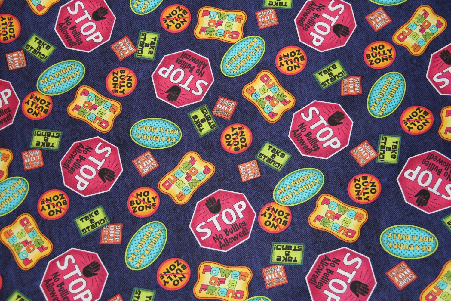 Studio 8 Quilting Treasures Stop Bullying Take A Stand Against Bullying Fabric By The Yard Bully Fabric By Pms Quilting Treasures Fabric Quilts