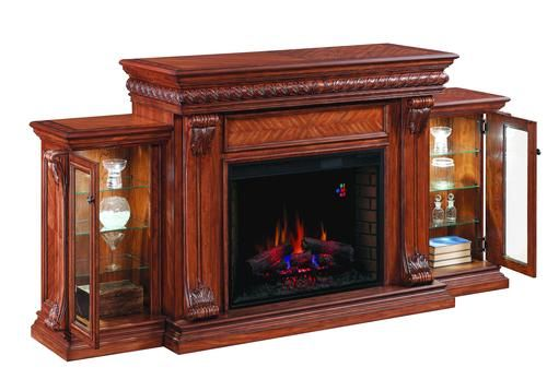 Livermore Curio Electric Fireplace W Side Piers At Menards
