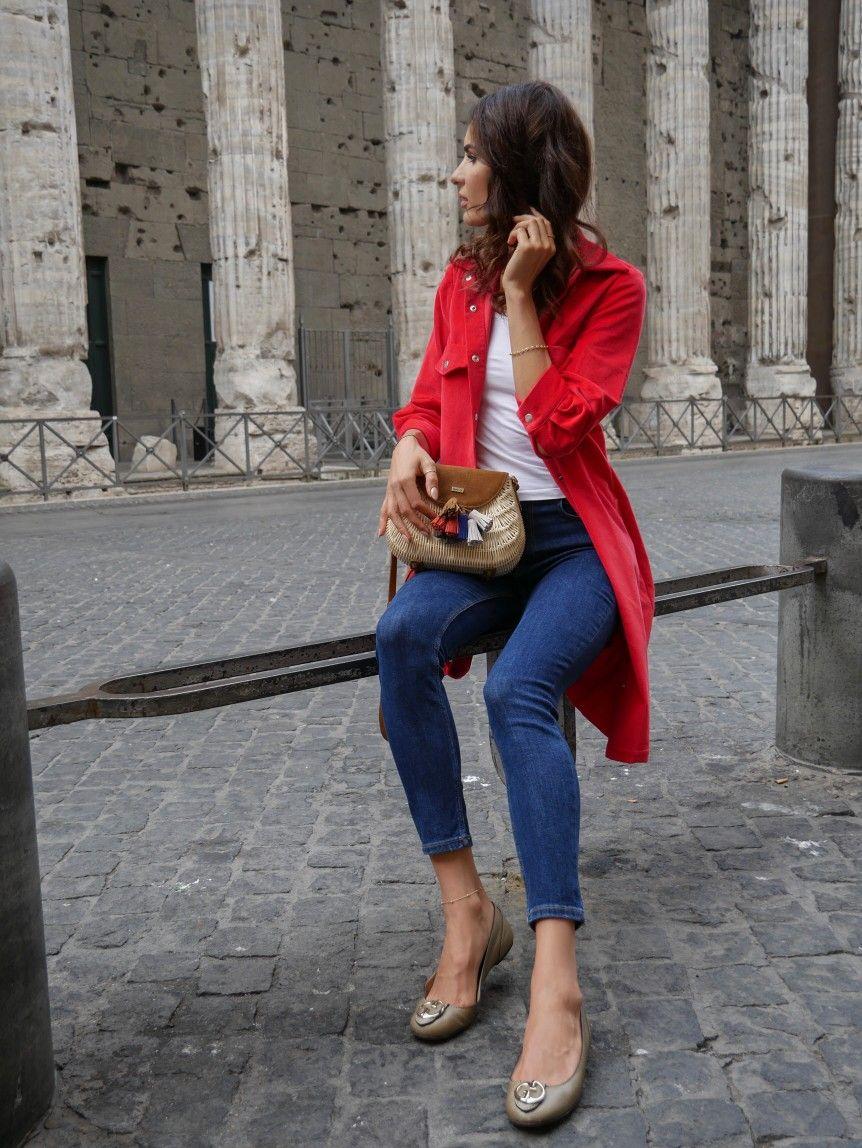Czerwona Sukienka Koszulowa Wenecja Fashion Fashion Outfits Clothes