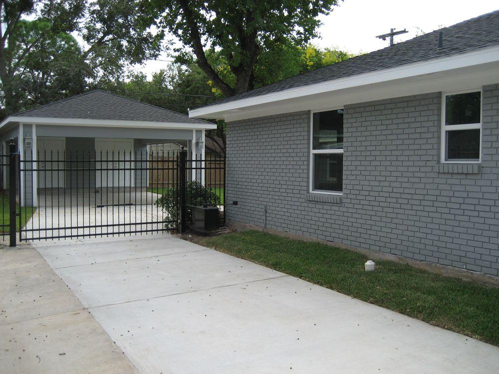 Remodel Houston Garage Carport Addition Recraft Homes Carport Addition Carport Carport Patio