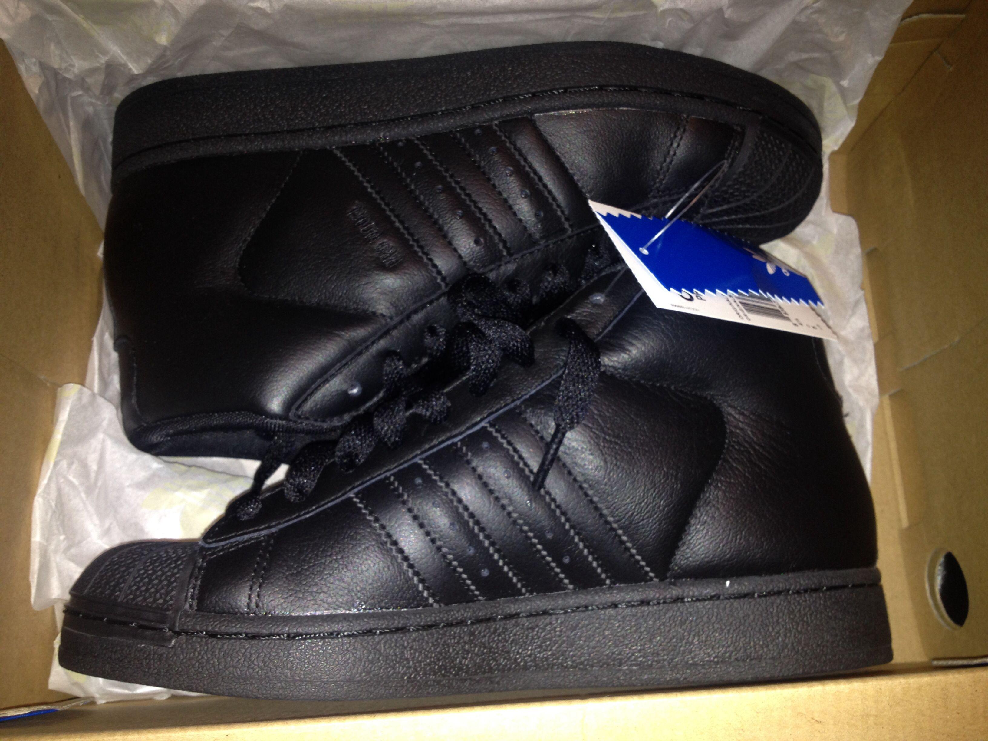Black Hightop Adidas Shell Toe | Adidas