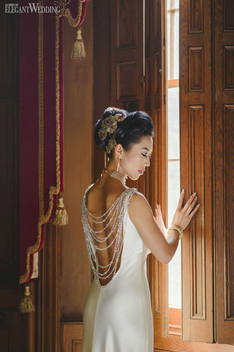 Gorgeous beaded back wedding dress by leaann belter beauty u the