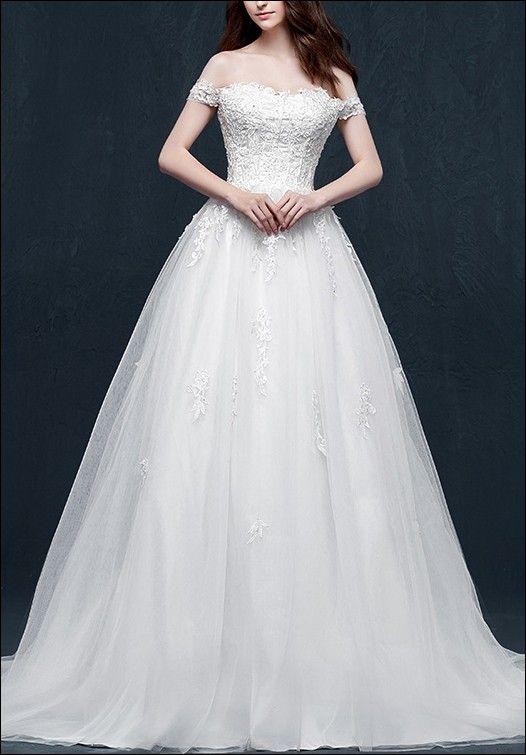 Brautkleid in A-Linie mit Korsage und Spitze | Say yes to the dress ...