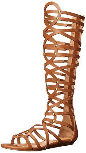 $63.20 Report Women's Amrik Gladiator Sandal, Tan, 7 M US