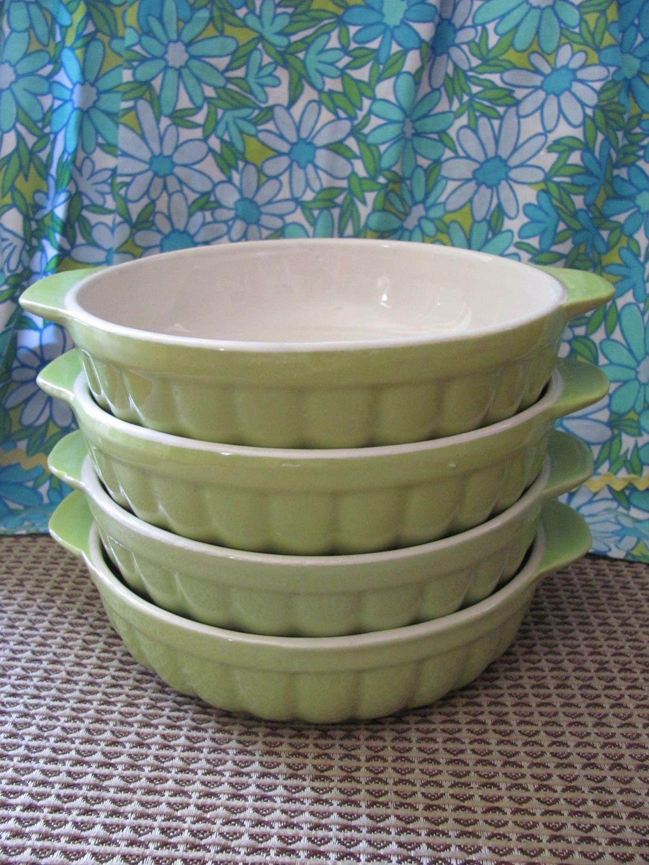 Set of 4 Vintage Lime Green Royal Norfolk Inidual Casserole Dishes Spring & Set of 4 Vintage Lime Green Royal Norfolk Inidual Casserole ...