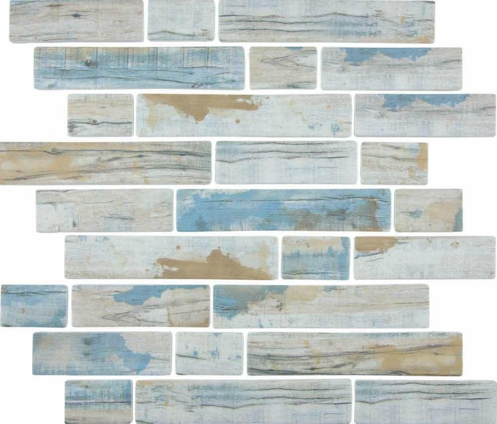 Linear Glass Mosaic Tile Wood Antique Blue Glass Pool Tile Glass Mosaic Tiles Mosaic Glass