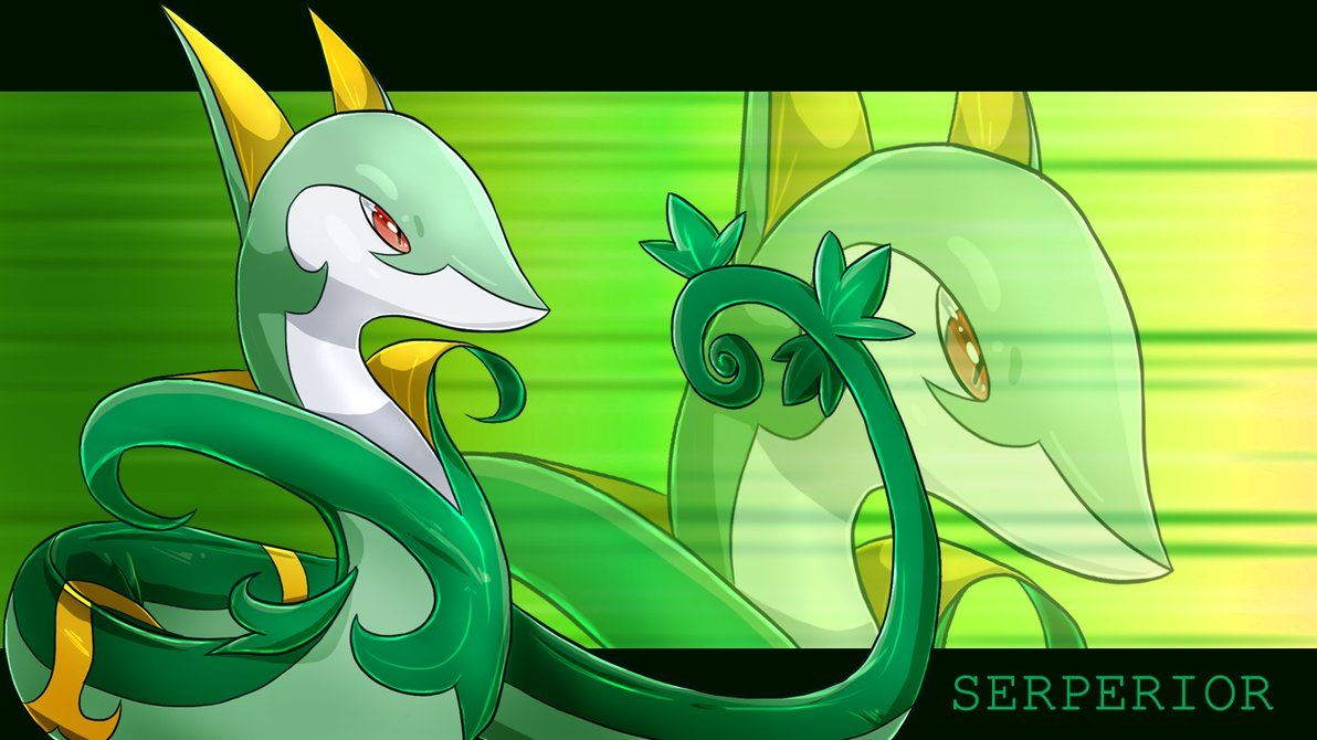 Serperior Wallpaper | Pokemon | Pinterest | Pokémon