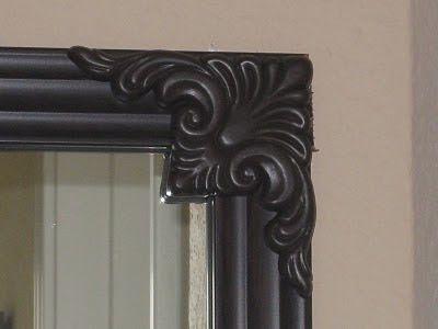 Bathroom Mirror Quick Fix ~ DIY