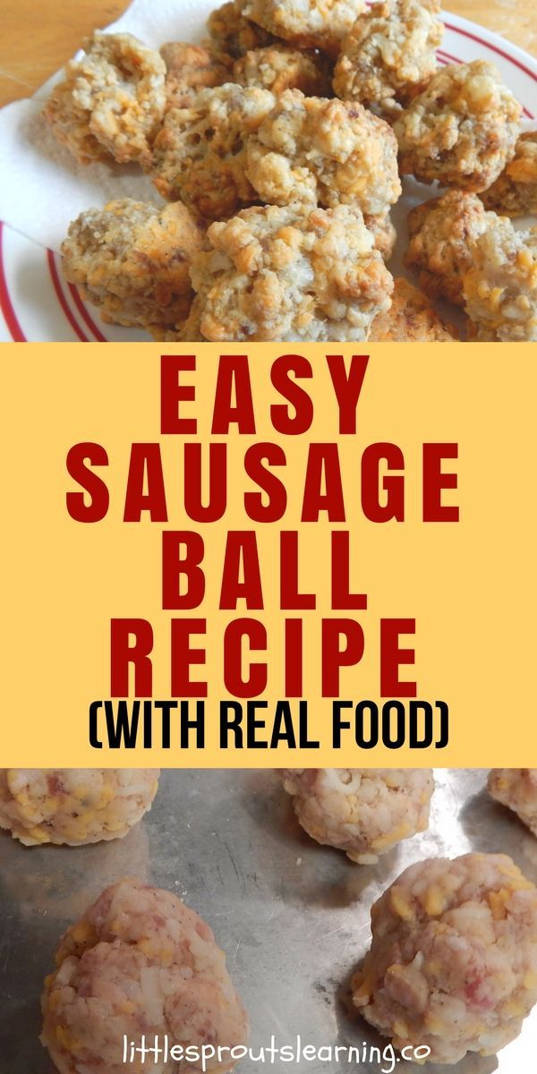 Easy sausage balls with real food recipe easy meals real easy sausage balls with real food recipe easy meals real foods and sausage forumfinder Choice Image