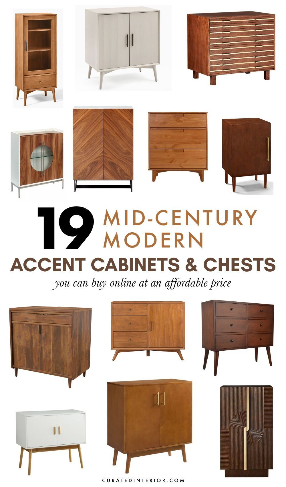 19 Mid Century Modern Accent Cabinets Chests In 2021 Mid Century Interior Design Accent Cabinet Mid Century Modern Decor