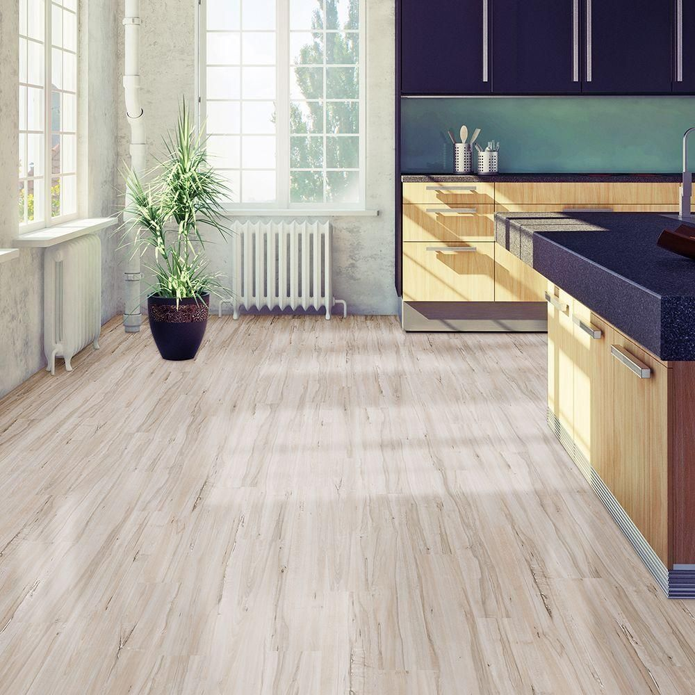Home Depot Kitchen Flooring Options Take Home Sample Allure Plus Vintage Maple White Resilient Vinyl
