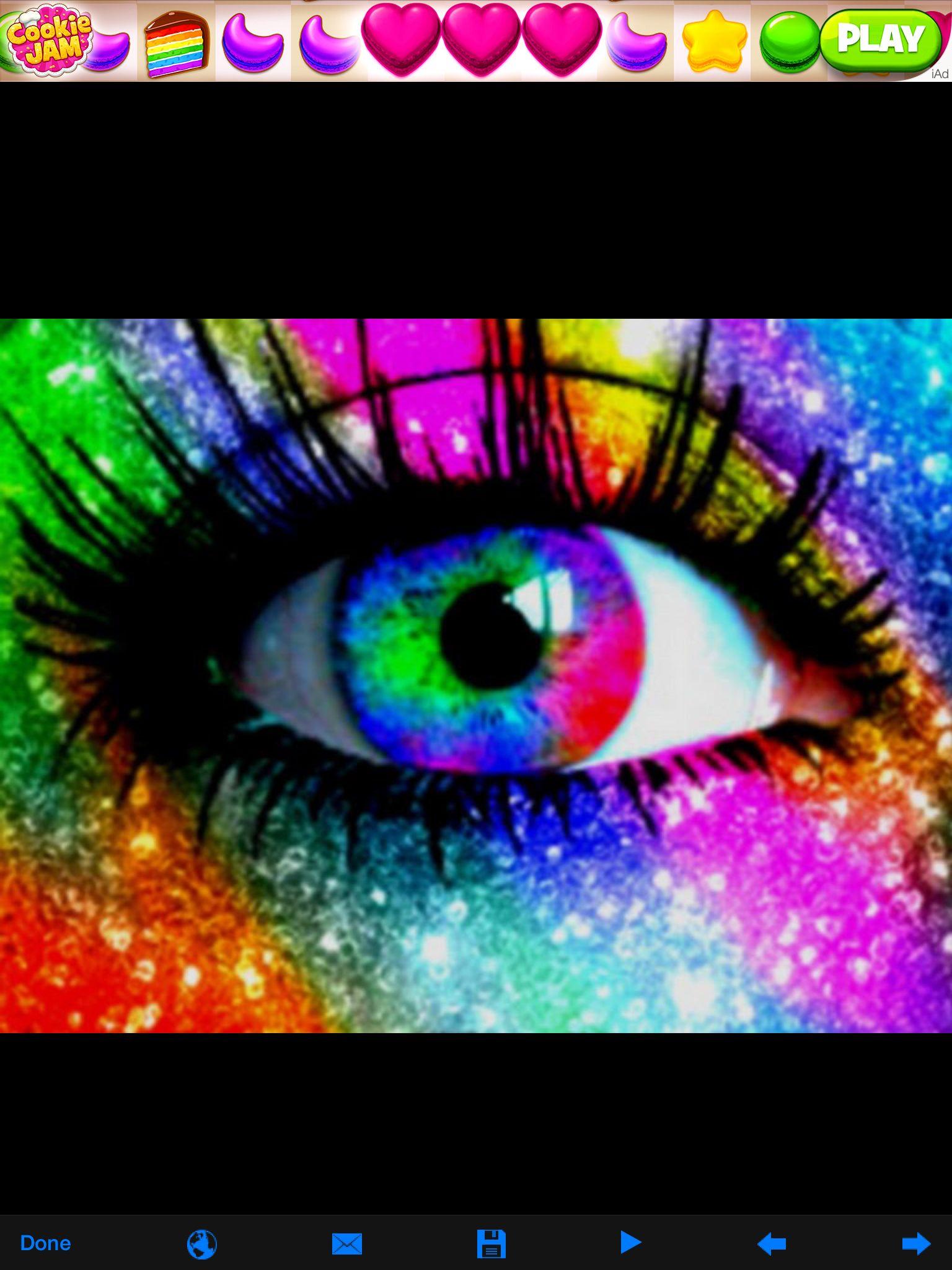 Rainbow Eyes Rainbow eyes, Rainbow eye makeup, Color