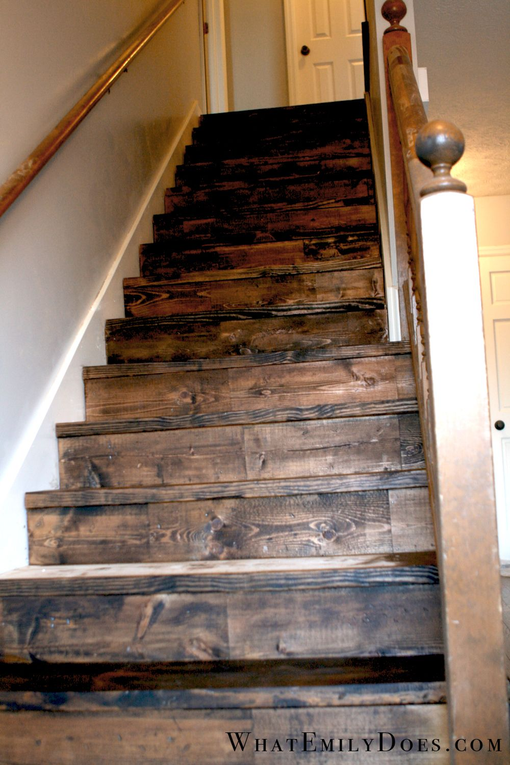 The Almost After Stairs Update Diy Stairs Rustic Staircase