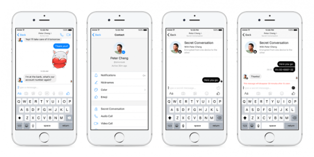 Facebook Messenger implements End-to-End Encryption (con