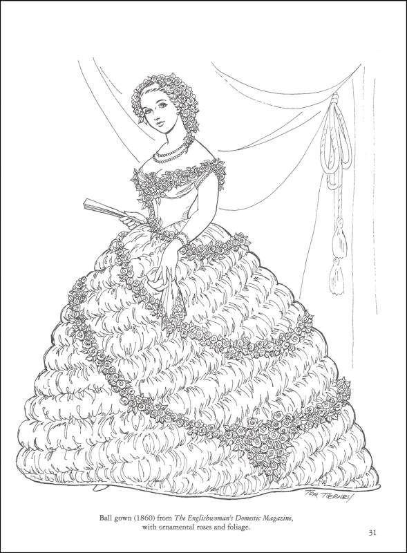 Civil War Coloring Pages Civil War Fashions Coloring Book