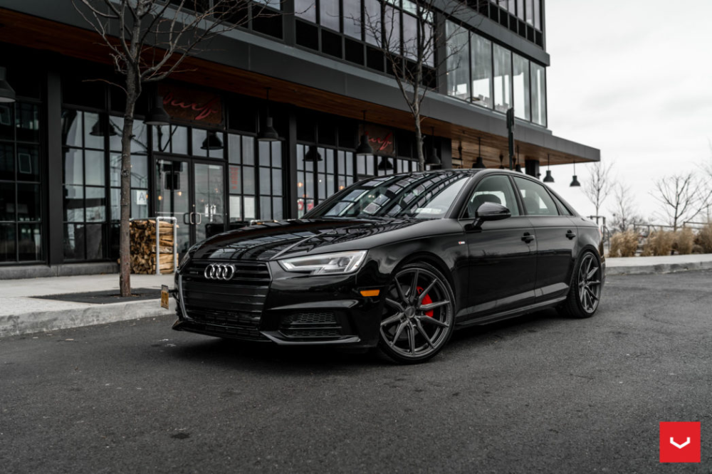Audi A4 B9 S Line Trim Anthracite Color Hybrid Forged Series Hf 3 Vossen Wheels Audi A4 Audi Black Audi