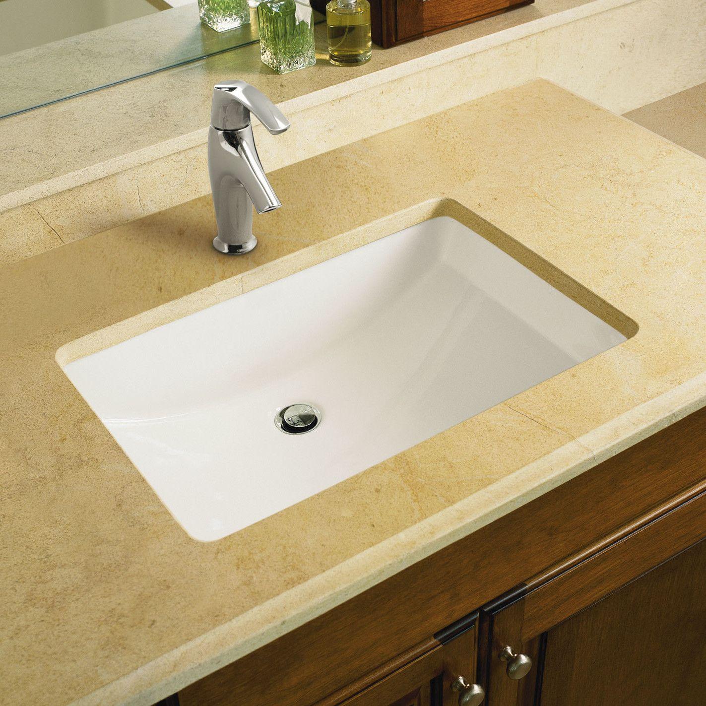 Kohler Ladena Undermount Bathroom Sink With Overflow White Fixture Lavatory  Sink Vitreous China