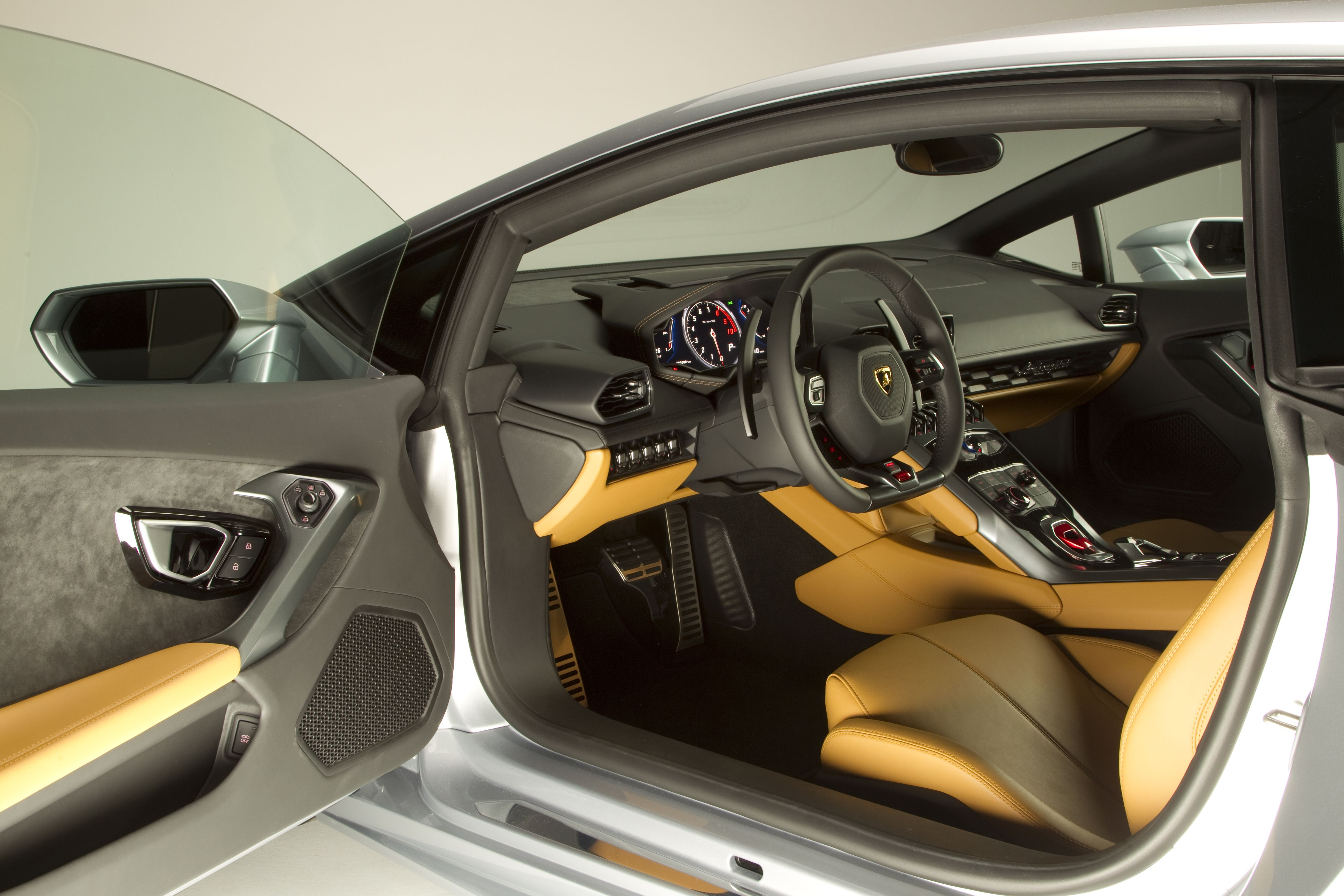 2015 Lamborghini Huracan First Look yellow and black interior silver