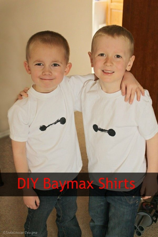 cbb400614 Show your Big Hero 6 pride with this easy DIY Baymax shirt.  #BigHero6Release #ad