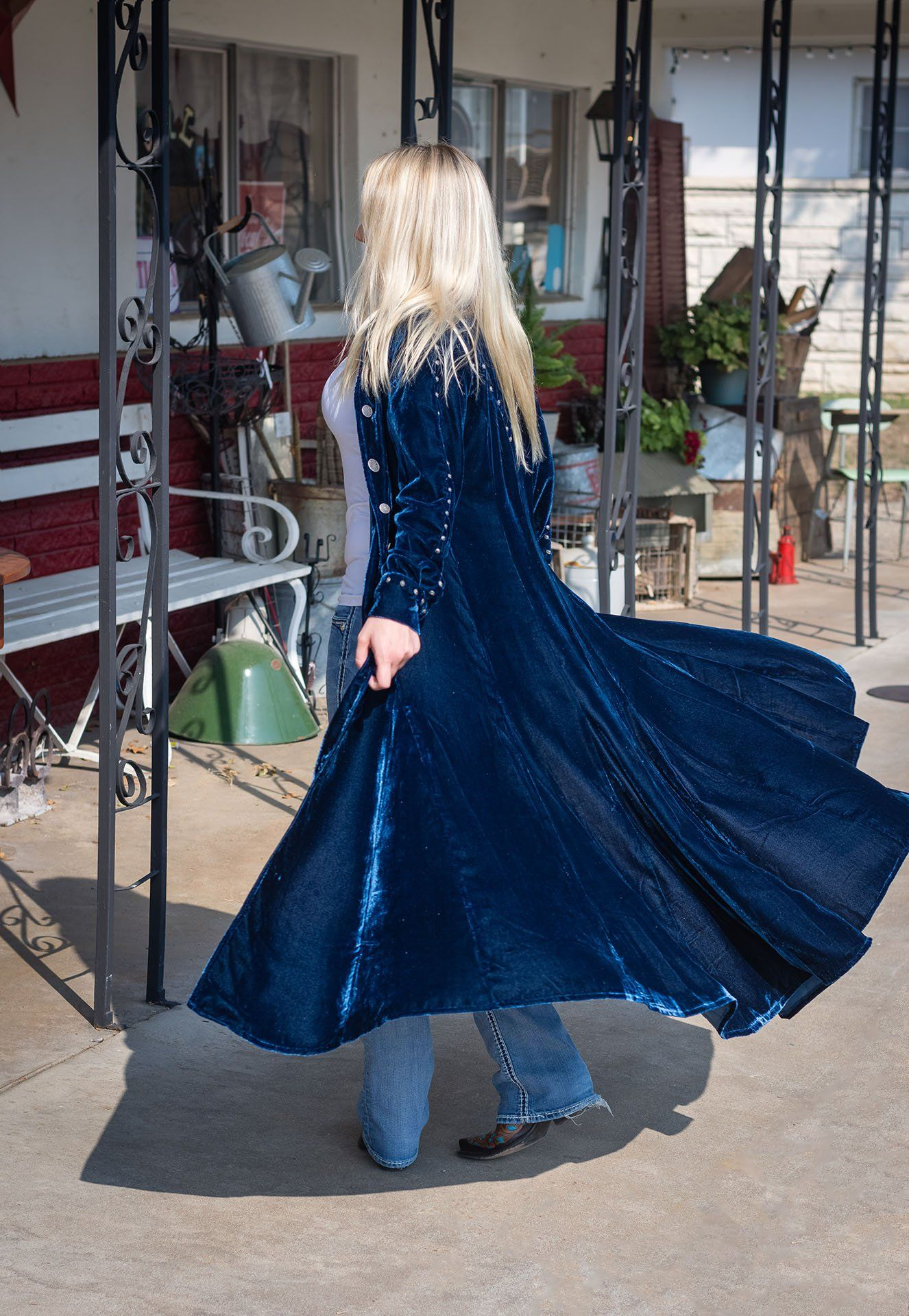 Exclusive Cowgirl Kim Duster by Roja ~ Santa Fe Midnight