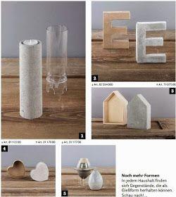 Gießformen Beton kreatives aus beton betongießen selbst gemacht mit gießformen