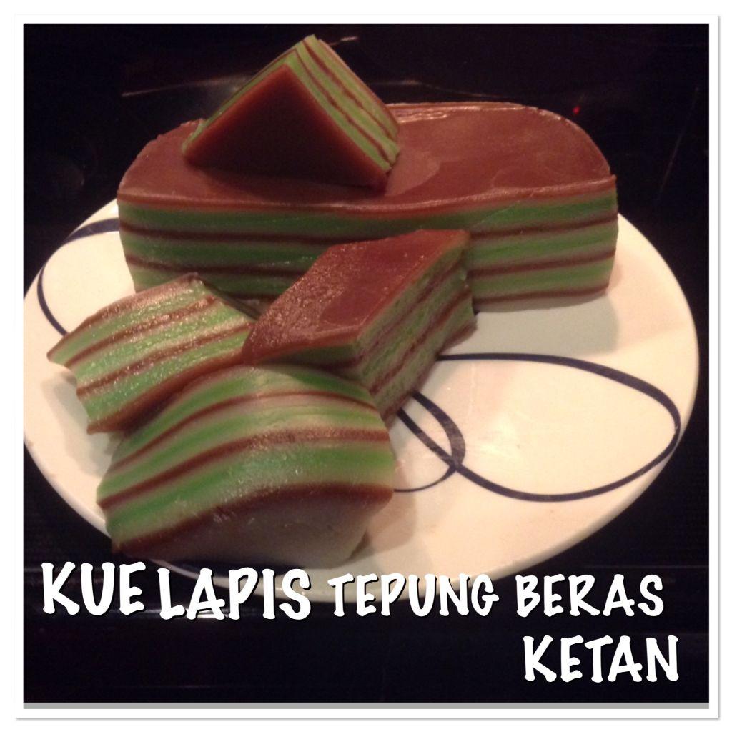 Kue Lapis Tepung Beras Ketan Sweets Food Snacks