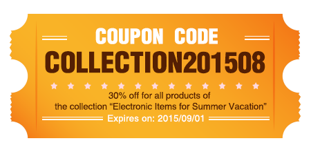 Coupon code:Collection201508